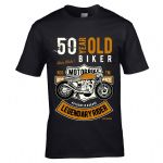 Premium 50 Year Old Biker Legendary Rider Cafe Racer Style Motif For 50th Birthday gift T-shirt Top